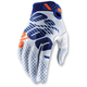 White/Navy Ridefit Gloves