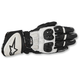 Black/White GP Plus R Leather Gloves