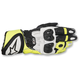Black/White/Flo Yellow GP Plus R Leather Gloves