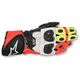 Black/White/Flow Red/Flo Yellow GP Plus R Leather Gloves
