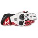 Black/White/Red GP Pro R2 Leather Gloves