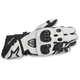 Black/White GP Pro R2 Leather Gloves