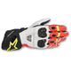 Black/White/Red/Yellow GP Pro R2 Leather Gloves