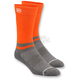 Orange Block Athletic Crew Socks