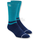 Blue Block Athletic Crew Socks
