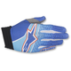 Blue/Cyan/Red Aviator Gloves