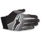Black/Teal/Dark Gray Aviator Gloves