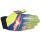 Blue/Flo Yellow/Red Aviator Gloves