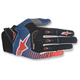 Dark Blue/Orange/White Techstar Gloves