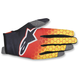 Red/Black/Yellow Radar Flight Gloves