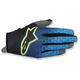 Dark Blue/Cyan/Flo Yellow Radar Flight Gloves