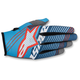 Cyan/White/Dark Blue Radar Tracker Gloves