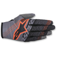 Dark Gray/Black/Flo Orange Radar Tracker Gloves