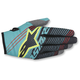 Teal/Black/Flo Yellow Radar Tracker Gloves