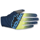 Dark Blue/Flo Yellow/Cyan Dune-2 Gloves