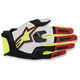 White/Red/Flo Yellow Racefend Gloves