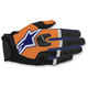Flo Orange/Dark Blue/White Racefend Gloves