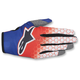 Youth Red/Blue/White Radar Flight Gloves