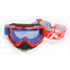 Red/Blue Radius Nemesis Goggles w/Smoke Blue Mirror Lens - 7001-002-000-001