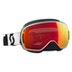 Black/White LCG Snowcross Goggles w/Red Chrome Lens - 246437-1007312