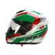 White/Green/Red FX-95 Italy Helmet