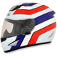 Red/White/Blue FX-95 Vintage Honda Helmet
