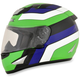 Green/Blue/White FX-95 Vintage Kawasaki Helmet