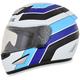 White/Blue/Black FX-95 Vintage Suzuki Helmet