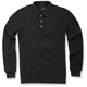 Black Cafe Long Sleeve Polo Shirt