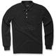 Black Cafe Long Sleeve Polo Shirt
