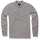 Gray Melange Cafe Long Sleeve Polo Shirt