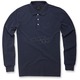 Navy Cafe Long Sleeve Polo Shirt