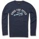 Navy Upshift Long Sleeve Knit Shirt