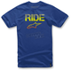 Royal Blue Ride Splatter T-Shirt