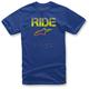Royal Blue Ride Splatter T-Shirt