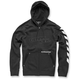 Black Debrief Fleece Hoody