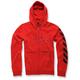 Red Debrief Fleece Hoody