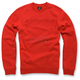 Red Recognize Fleece Pullover