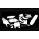 Complete White Powerflow Body Kit - 1CYC-9304-42