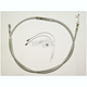 Polished Stainless Braided High Efficiency Clutch Cable - 52284