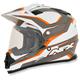 Orange Veleta FX-39DS Dual Sport Helmet Helmet