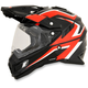 Black/Red/White FX-41DS Dual Sport AT Helmet