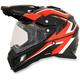 Black/Red/White FX-41DS Dual Sport AT Helmet