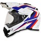 White/Blue/Red FX-41DS Dual Sport AT Helmet