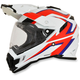 White/Red/Blue FX-41DS Dual Sport AT Helmet