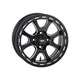Front/Rear Matte Black Tsunami 14x7 Simulated Bead Lock Wheel - 1422073727B