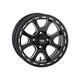 Front/Rear Matte Black Tsunami 15x7 Simulated Bead Lock Wheel - 1522083727B