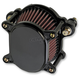 Black Smooth Omega Air Cleaner Assembly - 10-242-1