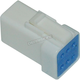 6-Wire Female Mini Connector - NJST-06R