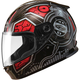 Youth Black/Red/Silver GM49 DJ Snow and Street Helmet w/Two Shields